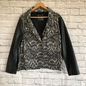 MBLM Black/ White Abstract Pattern Jacket / Blazer